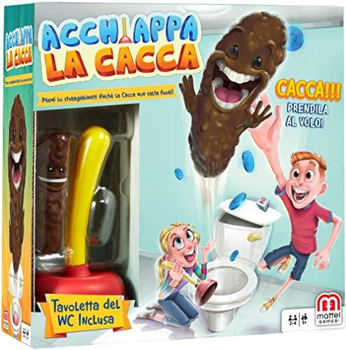 Mattel Games, Acchiappa la Cacca con Toilet Incluso, Gioco da Tavolo per Bambini 5 + Anni,...
