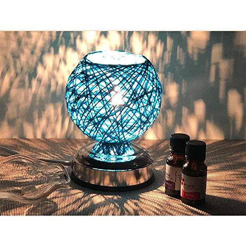 BYDXZ / Kreativ, Romantisch, Handgefertigtes Wickerwork-LED-Nachtlicht mit Wickerwork-Design, ätherisches Öl, Duftender Luftbefeuchter für Bettseiten, Hautpflege, Geschenk, Dekoration, Blau