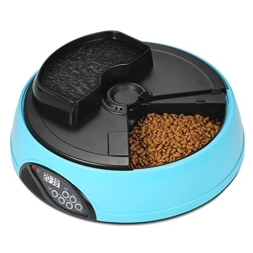 Anself Pet Feeder Automatico Alimentatore dell'animale Domestico Cane Elettronico Cat Pasti Dispenser Cibo Ciotola con Registratore LCD