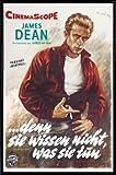 1art1 Denn Sie Wissen Nicht was Sie Tun Poster und Kunststoff-Rahmen - James Dean (91 x 61cm)