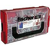 Fischer fixtainer–Duo Power/Duotec Surtido | tacos Diámetro 6mm y 8mm, 210unidades en maletín