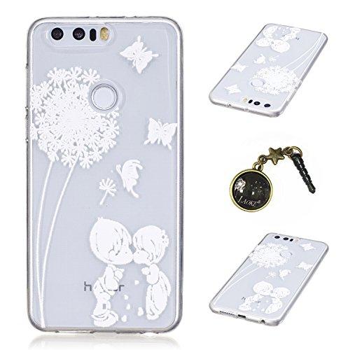 Preisvergleich Produktbild Ultradünne transparente Hülle für Huawei Honor 8 Hülle Schutzhülle Handy TPU Silikon Hülle Case Cover Durchsichtig Gel Tasche Bumper ( + Stöpsel Staubschutz) (9)