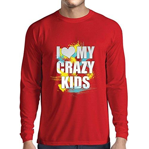 Camiseta Manga Larga Hombre Amo mis Hijos Locos: Ideas