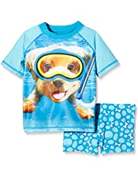 Pumpkin Patch Boy's Underwater Harry Rash Set Swim Shorts