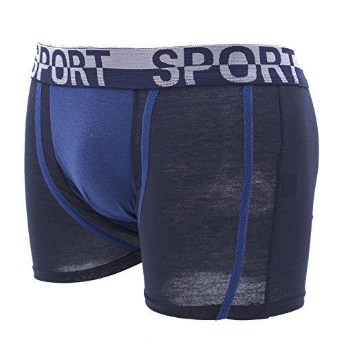 Packung mit 4 Stück Mann Höschen Boxermemoranden Unterwäsche elastischer Baumwolle Farben sortiert Mehrfarben
