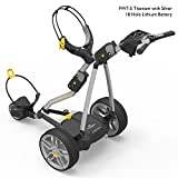 PowaKaddy FW7-S 2016 Lithium Electric Golf Trolley Titanium/Silver – Standard Battery (18 Hole)