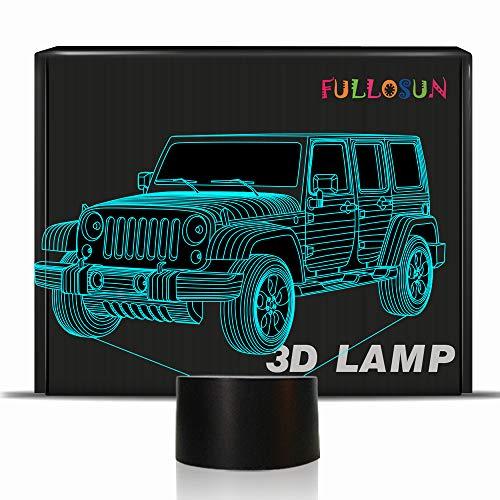 Illusion 3D-Lampe mit Taktiktaste mit 7 Farbwechsel, LED-Beleuchtung