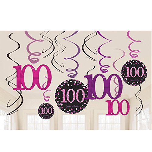 Amscan International 9901771 Pink Celebration 100. Swirl Dekoration Kit Preisvergleich