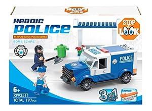 Diakakis 0658165-Bloques-construcción Serie Policía-3en 1-197Piezas