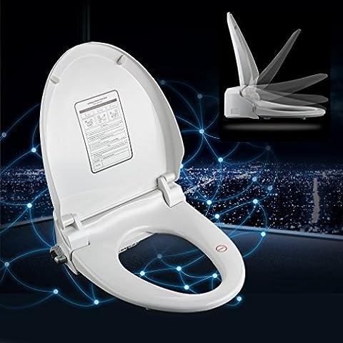 KINSE Sedile Bianco copri-WC multifuzionetelecomando con bidet