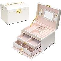 E-MANIS Boîte à bijoux Coffret pour bijoux à montre à maquillage,bijoux et cosmétique beauty Case,Doublure en velours…
