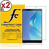 Forefront Cases® Huawei MediaPad M5 8 / M5 8.4 (8,4 Zoll) [HIGH DEFINITON HD KLARHEIT] Gehärtetes Glas Panzerglas Folie Schutzfolie Screen Protector [Ultra DÜNN nur 0.3mm] (Packung mit 2)