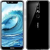 "Nokia 5.1 Plus - Smartphone de 5.86"" (4G, Mediatech Helio P60, RAM de 3 GB, memoria de 32 GB, cámara dual de 13+5 MP, Android 8.1) color negro"