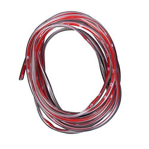 Protector Puerta Coche WINOMO 5M Tiras Decorativas para Coche Cinta Decorativa Adhesiva para Autos Transparente