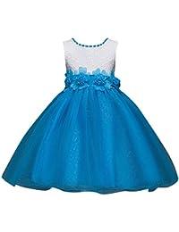 Bebés Niñas Vestido Floral De Tutú Princesa Traje De Fiesta Formal Elegante Para Boda Cumpleaños Festividades