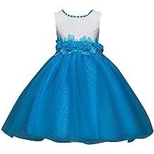 97c5c7241 Qitun Bebés Niñas Vestido Floral De Tutú Princesa Traje De Fiesta Formal  Elegante para Boda Cumpleaños