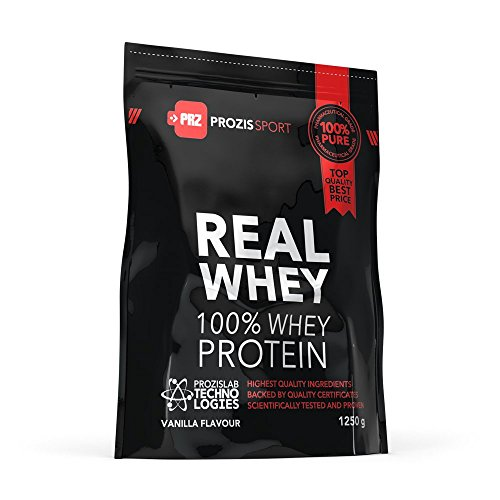 Prozis Sport 100% Real Whey Protein, Suplemento para Deportistas, Sabor a Chocolate - 1250 gr