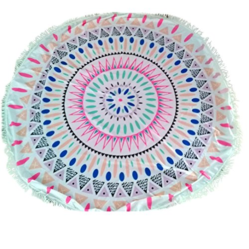 Amlaiworld Teli mare,Doccia rotonda asciugamano coperta tavolo panno Yoga
