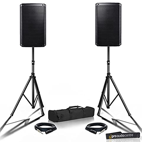 Powerful Portable 2000W DJ Disco Party Active 2K Band PA Sound System   Powered Speakers
