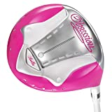 I-Bella Obsession Titanium driver Ladies right handed 13 degree pink head, white ibella shaft, white and pink grip, with headcover