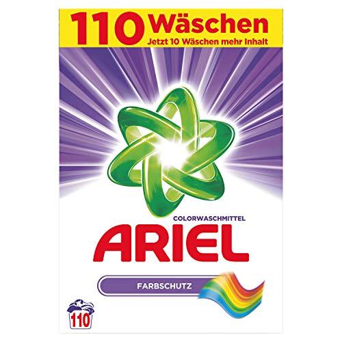 Ariel Colorwaschmittel Pulver Farbschutz, 7,15kg- 1er Pack (1 x 110 Waschladungen)