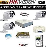 HIKVISION Full HD 2MP Cameras Combo KIT 4CH HD DVR+ 3 Bullet Cameras