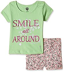 612 League Baby Girls Clothing Set (ILS17I75008-3 - 6 Months-Pink)