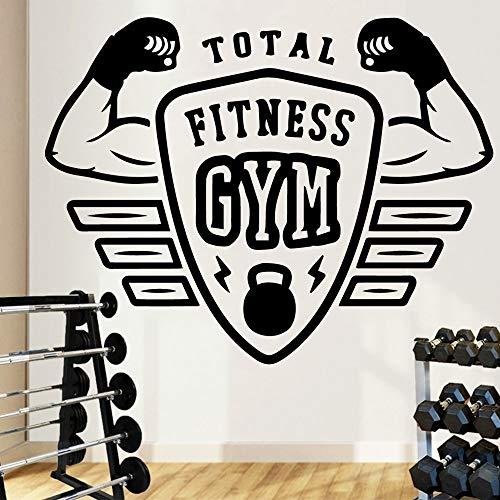 zqyjhkou Schöne Gym Wandtattoos Abnehmbare Vinyl Wandbild Poster Für Fitnessraum Natur Dekoration Tapete Decor Wandtattoos XL 57 cm X 73 cm