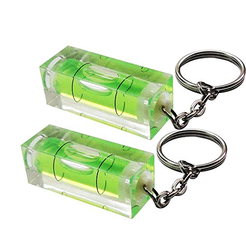 Schlüsselanhänger mit Mini-Wasserwaage von RKGifts, Werkzeug, Heimwerken, originelles Geschenk, 2 Achsen, Mini spirit level (2 pack) -