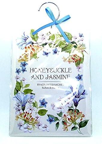 Grande 60g Chèvrefeuille et jasmin–parfumée Armoire Cintre–Double Sachet parfumé en–Chèvrefeuille