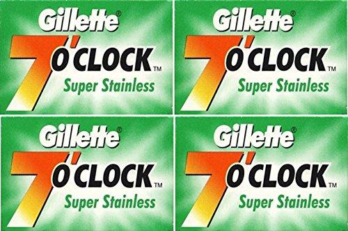 20 Gillẹtte 7'o Clock Super Stainless Rasierklingen - Stainless 7