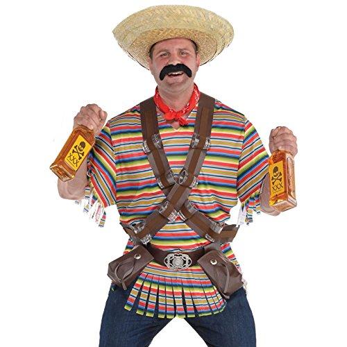 Erwachsene Mexikanisch El Tequila Bandito Maskenkostüm - Tequila Bandito, Übergröße