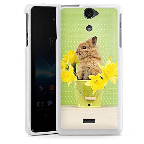 Sony Xperia V Hülle Silikon Case Schutz Cover Osterhase Hase Kaninchen