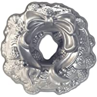 Nordicware 85.348 Cake Mould Design Holiday Wreath alluminio