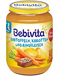 Bebivita Kartoffeln, Karotten und Rindfleisch, 1er Pack (1 x 190g)