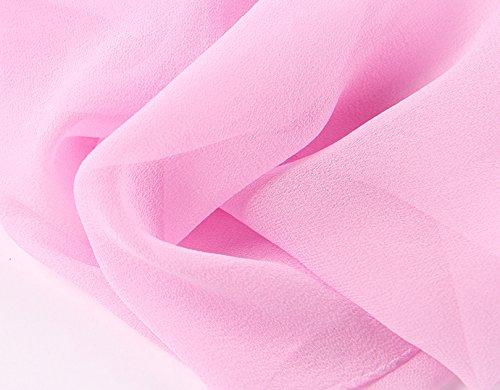 Prettystern - Elégante écharpe georgette de soie unicolore - 25 Choix des couleurs 2015 rose