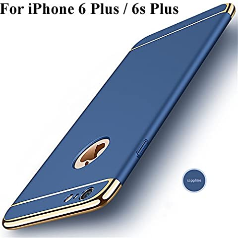 iPhone 6s Plus Case,Heyqie 3 in 1 Ultra-thin 360 Full Body Anti-Scratch Shockproof Hard PC Non-Slip Skin Smooth Back Cover Case with Electroplate Bumper For Apple iPhone 6 plus / 6s Plus 5.5