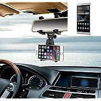 Supporto Smartphone specchietto retrovisore per Huawei P8 Max, nero | Specchio Holder staffa auto - K-S-Trade (TM) - Guida All'acquisto Holder
