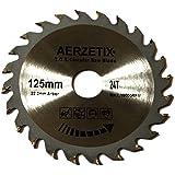 AERZETIX - Disque scie à bois 125/22,2mm T24 24 dents pour meuleuse tronçonneuse disqueuse