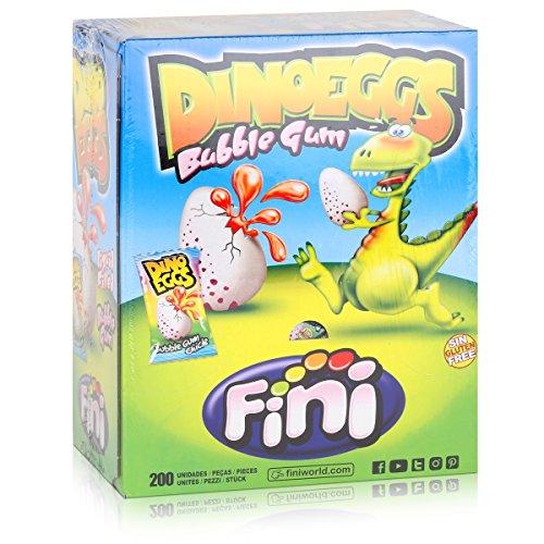 Preisvergleich Produktbild Fini - Dino-Eggs - gefüllte Kaugummis - Box / Display mit 200 Stück
