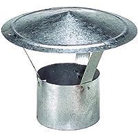 WOLFPACK 22010078 Sombrero Galvanizado Para Estufa de 130mm