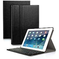 """Clavier Bluetooth AZERTY français 9.7"""", iPad Housse Coque Stand Pochette de Protection pour iPad 2018 9.7"""", iPad 2017 9.7"""", iPad Pro 2017 9.7"""", iPad Air 1, iPad Air 2, Fonction Sommeil Réveil Automatique"""