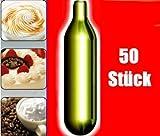 generisch 50s 50 Stück N2O Sahnekapseln für handelsüblichen Sahnebereiter von Liss, Mosa, iSi, Kayser, Mastrad
