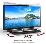 RICOO TV Drehteller Fernseh Tisch LCD Fernseh Stand Drehbar FS053B LED Fernseher Tisch Aufsatz Podest Flachbildfernseher PC Monitor Drehscheibe Drehplatte Bildschirm Untergestell Universal/Schwarz