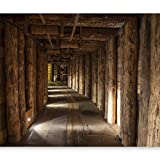 murando - Fototapete 350x256 cm - Vlies Tapete - Moderne Wanddeko - Design Tapete - Wandtapete - Wand Dekoration - Salt Mine Salzbergwerk Holz Bergwerk Polen Bergbau rustikal f-B-0003-a-a