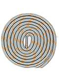 Boowhol 1 Paire de Lacets Ronds Largeur 4.5 MM résistant à l'usure différentes Couleurs et Longueurs Idéal pour Les Sports (Gris Orange, 160 CM)