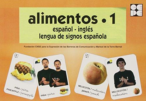 Alimentos 1. Baraja Español-Inglés. Lengua De Signos Española (Vocabulario Fotografico Element)