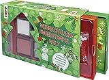 Weihnachtliche Fingerstempel-Welt (Set): Süße Box mit Anleitungsheft, 6 Stempelkissen, 1 Buntstift, 30 Pompons, 5 Karten und 4 Geschenkanhängern zum Bestempeln