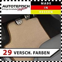 La felpudos de terciopelo, color beige (Q308) se adapta para BMW Z4E85E86Coupe + CABRIO (Modelos Año 2002–20082piezas con borde color a elegir.