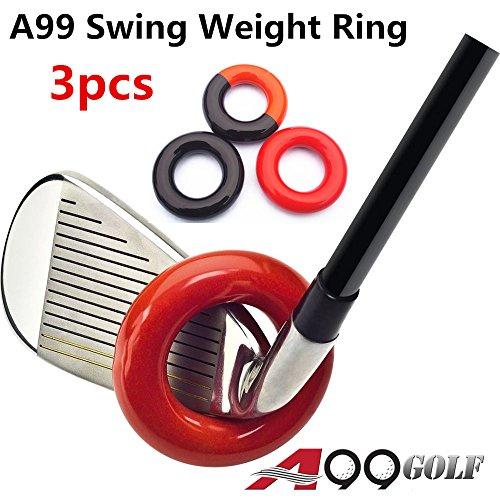 3/Pack A99Golf Club Gewichtet Schaukel Ring–Swing Up Werkzeug, Muskeln Warm